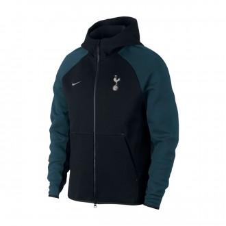 Chaqueta  Nike Tottenham Hotspur FC Tech Fleece 2018-2019 Black-Armory navy-Metallic silver