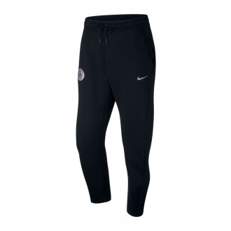 Long pants   Nike Manchester City FC Tech Fleece 2018-2019 Black-Metallic silver