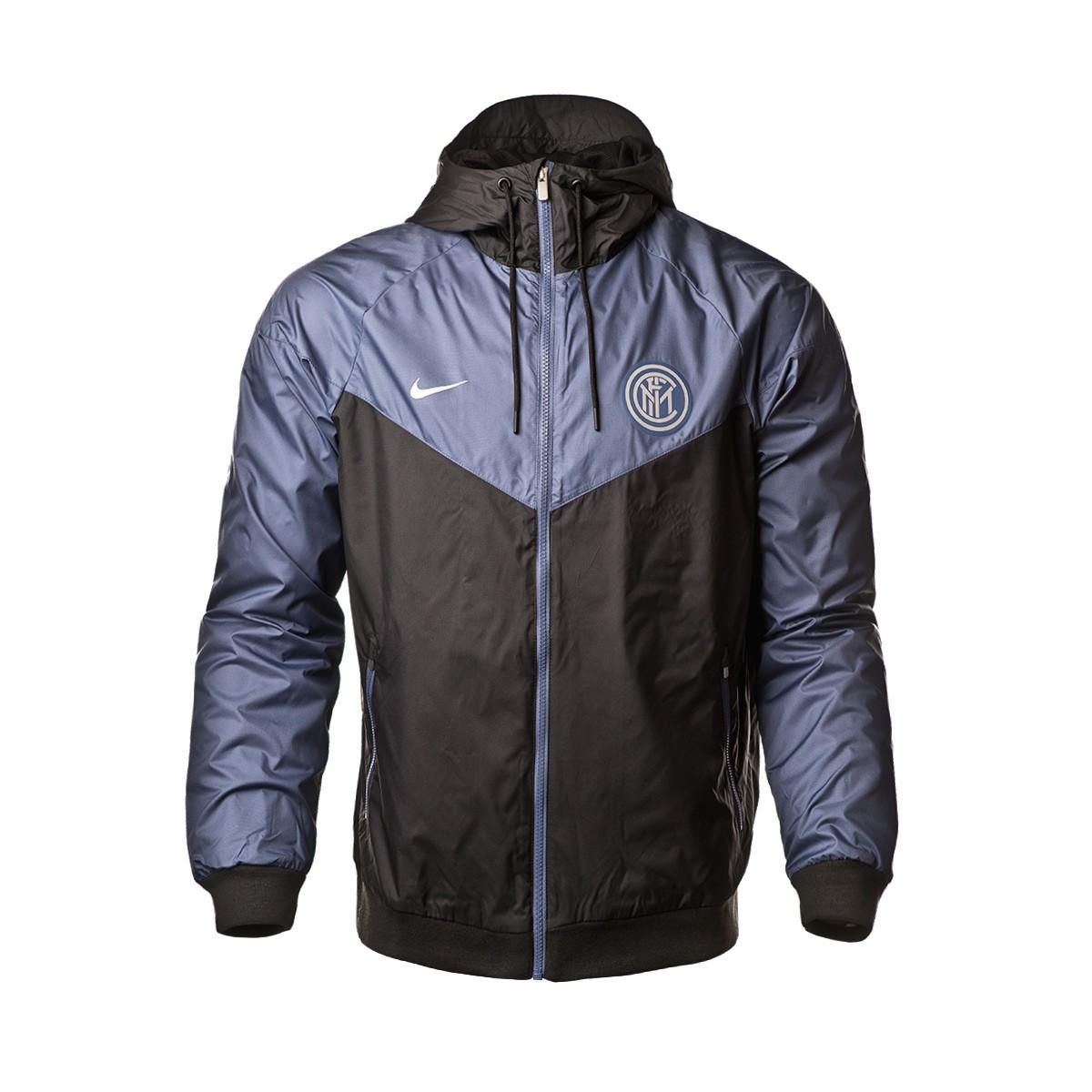 53b78789a4 Jacket Nike Inter Milan Windrunner 2018-2019 Black-Diffused blue ...