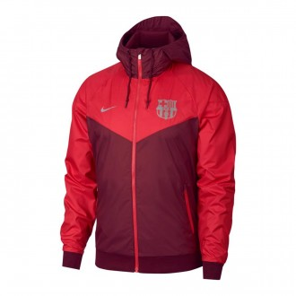 Jacket  Nike FC Barcelona Windrunner 2018-2019 Deep maroon-Tropical pink
