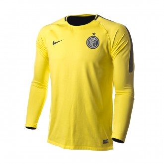 Sweatshirt  Nike Inter Milan Squad 2018-2019 Dynamic yellow-Thunder blue