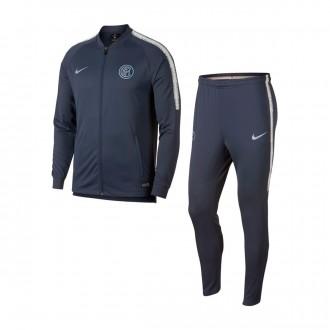 Tracksuit  Nike Inter Milán Squad 2018-2019 Thunder blue-Vast grey