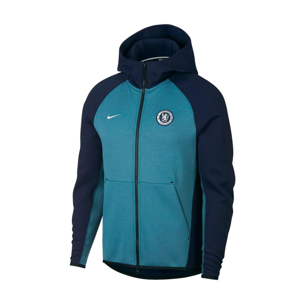 cfd3f36b1631a Sweatshirt Nike Chelsea FC Tech Fleece 2018-2019 Obsidian-Celestial ...