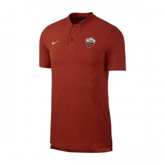 Polo shirt  Nike AS Roma 2018-2019 Mars stone-Metallic silver