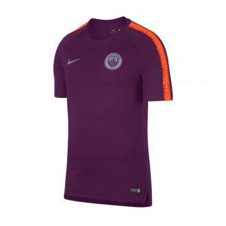 Camiseta  Nike Manchester City FC Squad 2018-2019 Night purple-Safety orange
