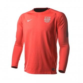 Sudadera  Nike FC Barcelona Squad 2018-2019 Tropical pink-Deep maroon