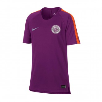 Camiseta  Nike Manchester City FC Squad 2018-2019 Niño Night purple-Safety orange