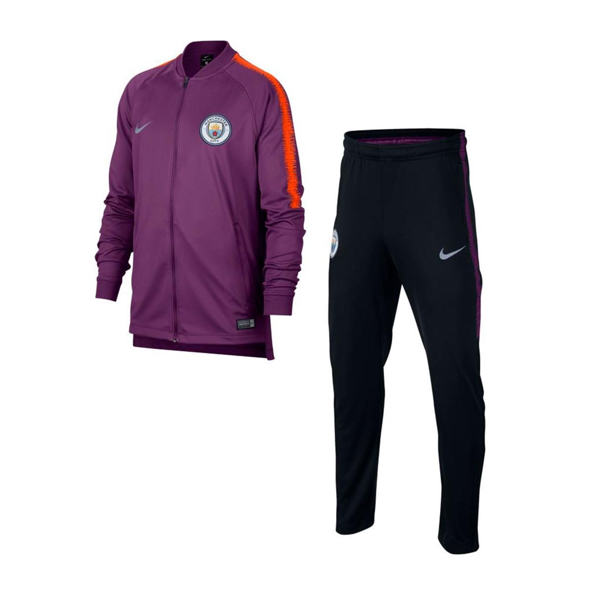 64e1bfc88 Tracksuit Nike Kids Manchester City FC Squad 2018-2019 Night purple ...