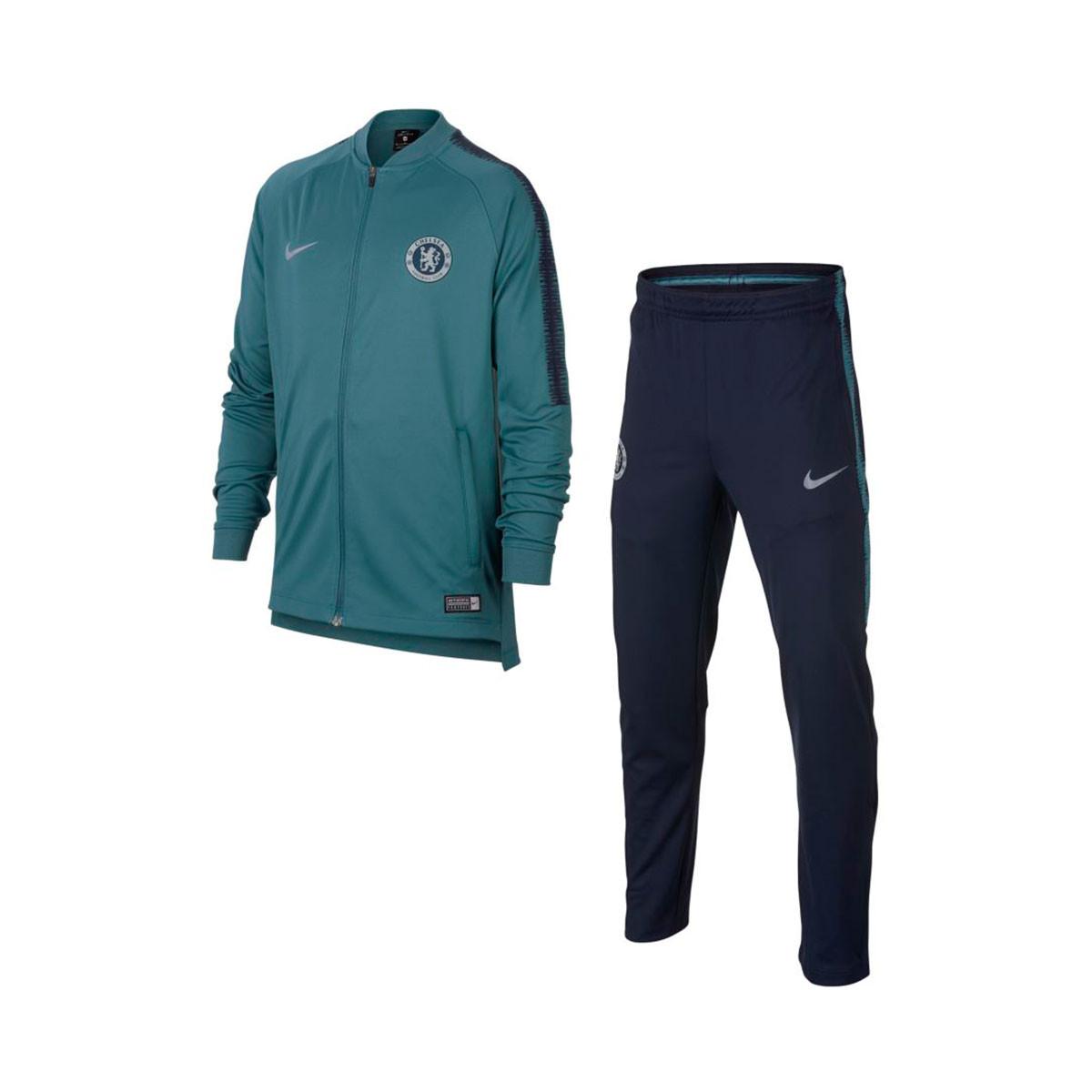 a958cb6fb3746 Tracksuit Nike Chelsea FC Squad 2018-2019 Niño Celestial teal-Obsidian -  Tienda de fútbol Fútbol Emotion