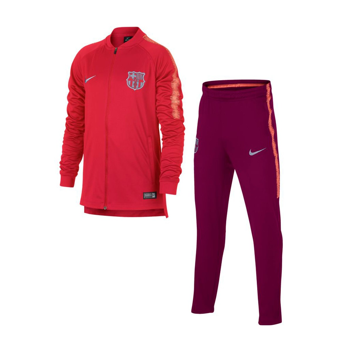 f1b1965e9ad77b Tuta Nike FC Barcellona Squad 2018-2019 Junior Tropical pink-Deep  maroon-Light atomic pink - Negozio di calcio Fútbol Emotion