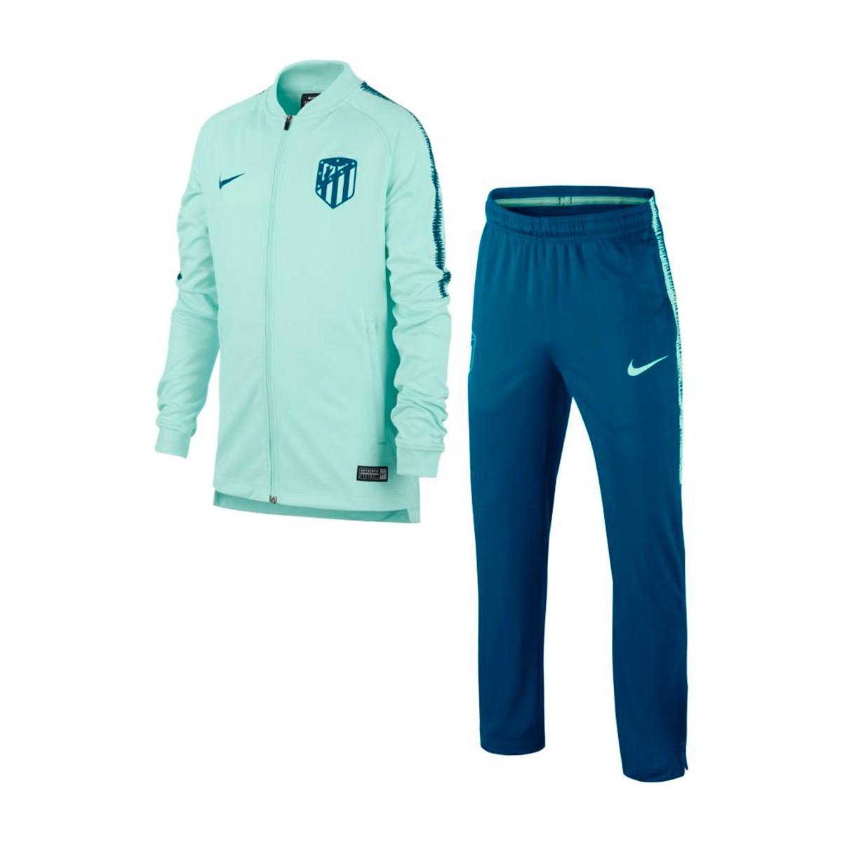 d5391879fc7ef Chándal Nike Atlético de Madrid Squad 2018-2019 Niño Igloo-Green abyss -  Tienda de fútbol Fútbol Emotion