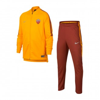 Conjunto pants  Nike AS Roma Squad 2018-2019 Niño University gold-Mars stone