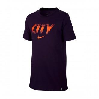 Camiseta  Nike Manchester City FC Preseason 2018-2019 Niño Purple dynasty