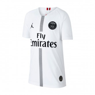 Maglia  Nike Paris Saint-Germain Stadium Terza Divisa 2018-2019 Junior White-Black