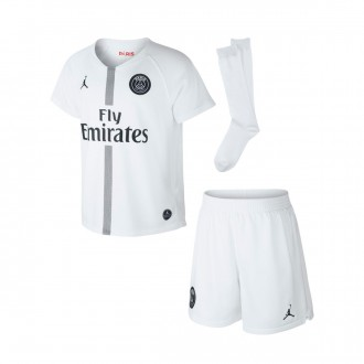 Kit  Nike Paris Saint-Germain Tercera Equipación 2018-2019 White-Black