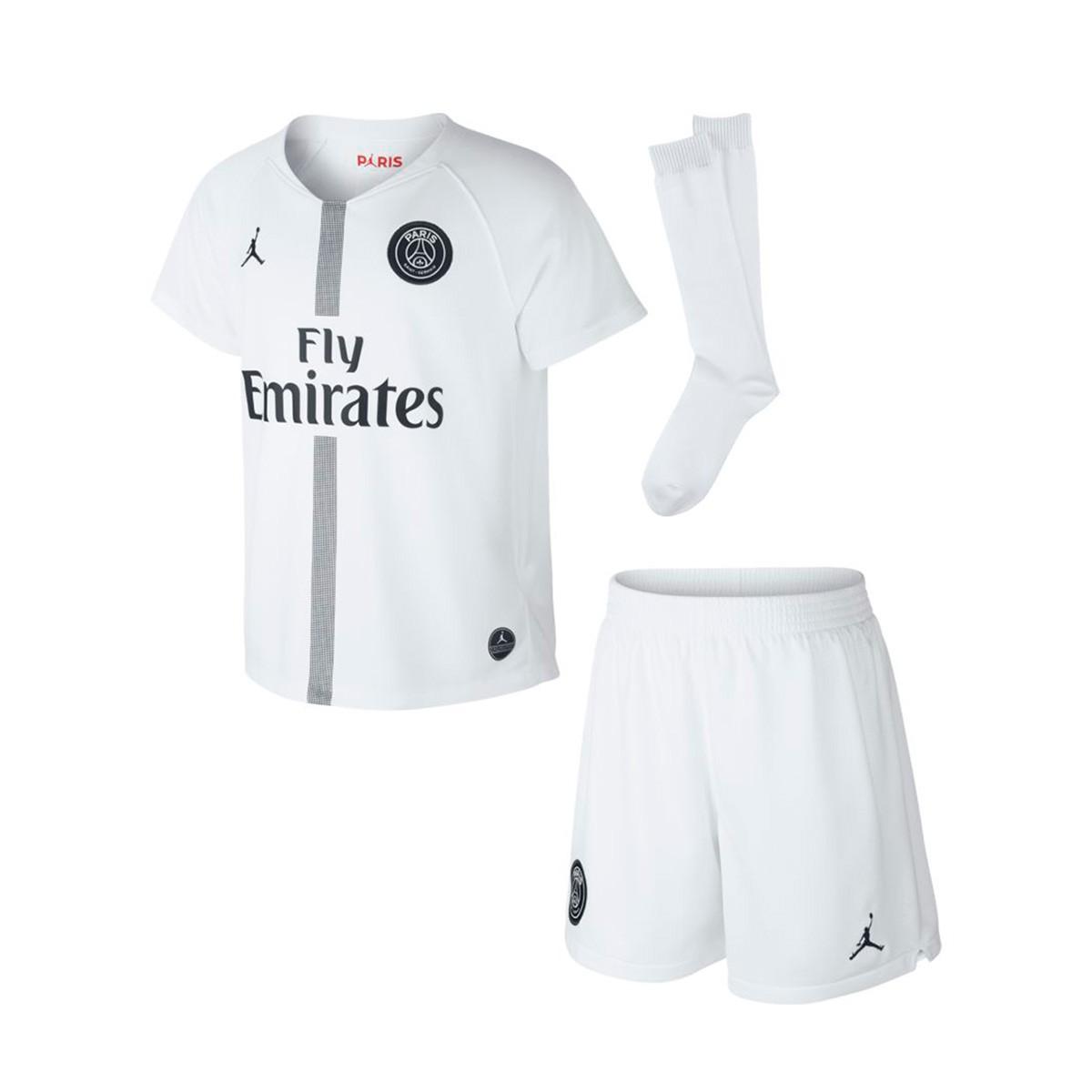 the best attitude 9e17b 03b5f Conjunto Paris Saint-Germain Tercera Equipación 2018-2019 White-Black