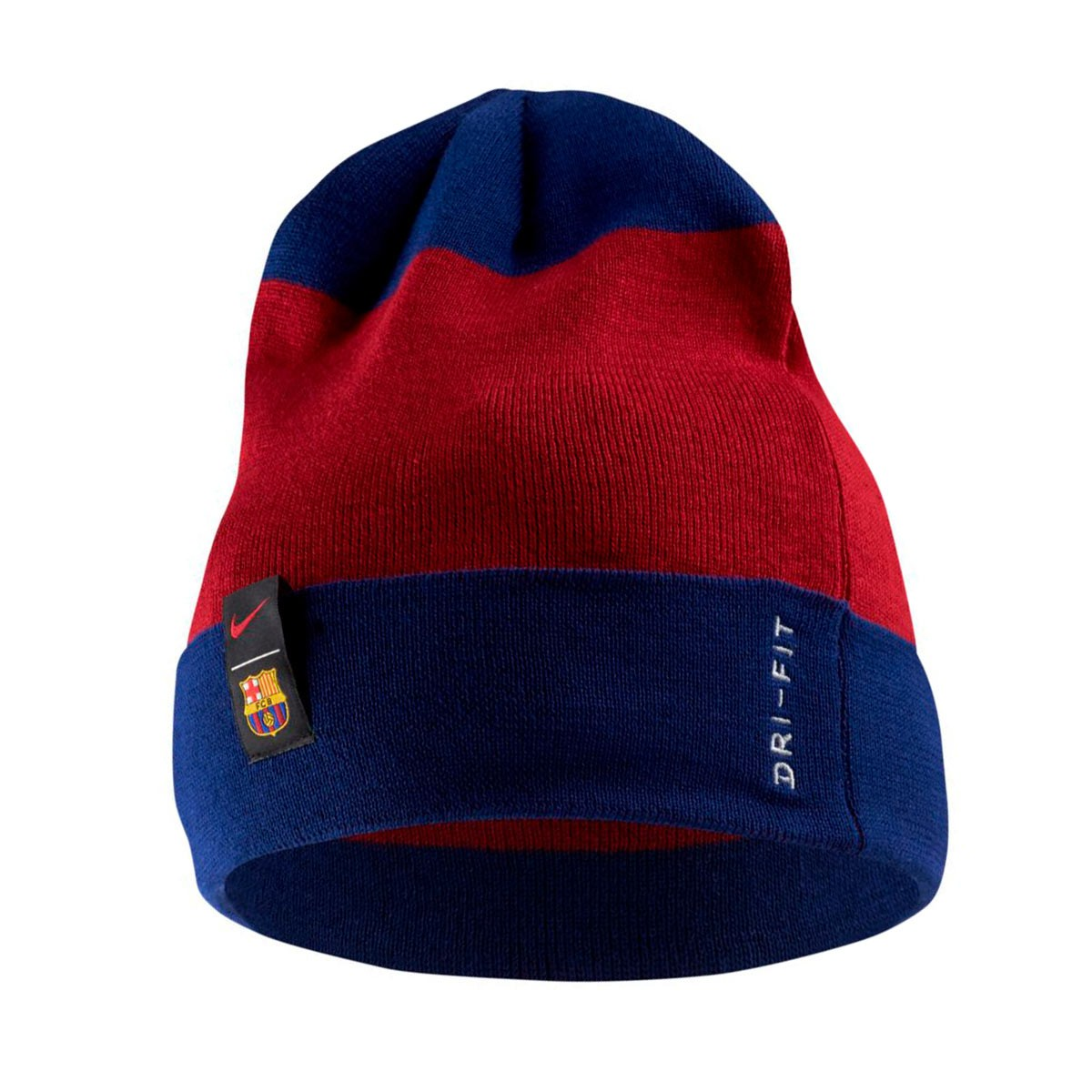 new style 270af ad3e5 Nike FC Barcelona Beanie 2018-2019 Beanie. Noble red- Deep royal blue ...