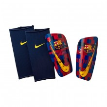Espinillera FC Barcelona Mercurial Lite 20 years Storm red-Storm blue-Tour yellow