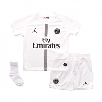 Conjunto  Nike Paris Saint-Germain Tercera Equipación 2018-2019 White-Black