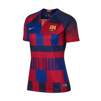 Camisola  Nike FC Barcelona Stadium 20 years Mujer Deep royal blue-Noble red-Tour yellow
