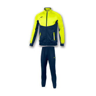 Tracksuit  Joma Essential Micro Navy blue-Amarillo fluor