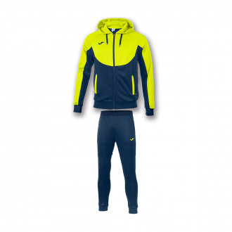 Tracksuit  Joma Essential Navy blue-Amarillo fluor