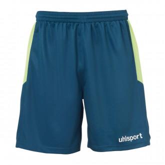Short  Uhlsport Goal Bleu pétrole-Vert fluor