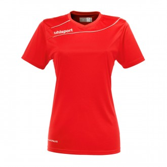 Camisola  Uhlsport Stream 3.0 Mujer m/c Vermelho-Branco