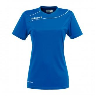 Camiseta  Uhlsport Stream 3.0 Mujer m/c Azul royal-Blanco