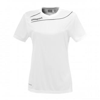 Camisola  Uhlsport Stream 3.0 Mujer m/c Branco-Preto