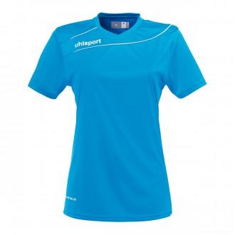 Camiseta  Uhlsport Stream 3.0 Mujer m/c Azul cyan-Blanco