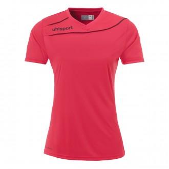 Camiseta  Uhlsport Stream 3.0 Mujer m/c Rosa-Negro