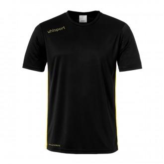 Camiseta  Uhlsport Essential m/c Negro-Amarillo lima