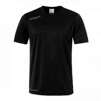 Camiseta  Uhlsport Essential m/c Negro-Blanco