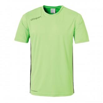 Camiseta  Uhlsport Essential m/c Verde flúor-Negro