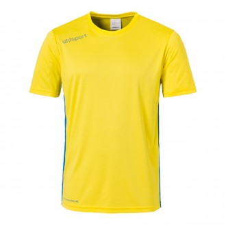 Camiseta  Uhlsport Essential m/c Amarillo lima-Azul royal
