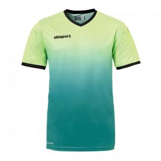 Camiseta  Uhlsport Division m/c Verde flúor-Verde oscuro
