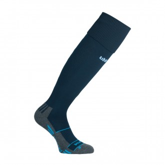 Football Socks  Uhlsport Team Pro Player Navy blue-Sky blue