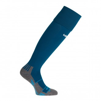 Football Socks  Uhlsport Team Pro Player Azul petróleo-White