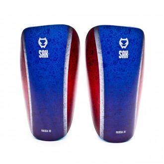 Espinillera  SAK Morph Russia 18 Edition Wide Azul-Rojo