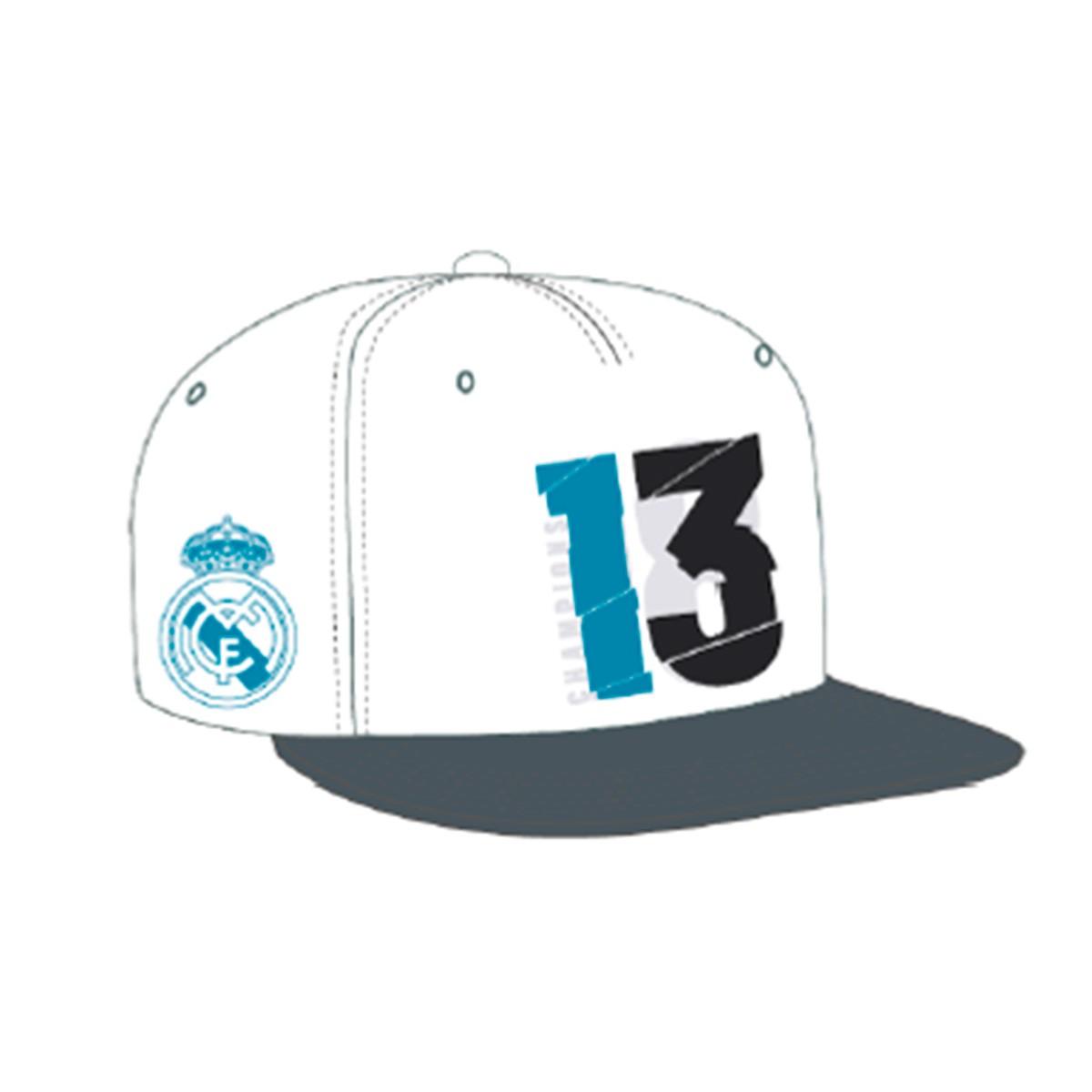 47242e73f04481 Gorra adidas Real Madrid 13 Campeón UCL 18 White - Tienda de fútbol Fútbol  Emotion