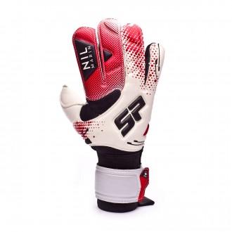 Luvas SP Fútbol Nil Marin Pro Branco-Vermelho-Preto