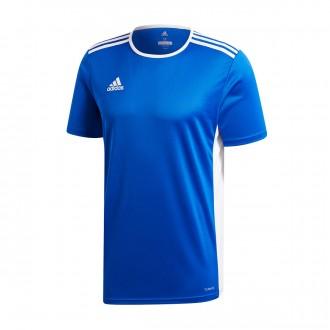 Camiseta  adidas Entrada 18 m/c Bold blue-White