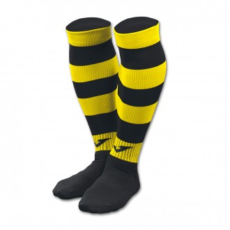Football Socks  Joma Zebra II Black-Yellow