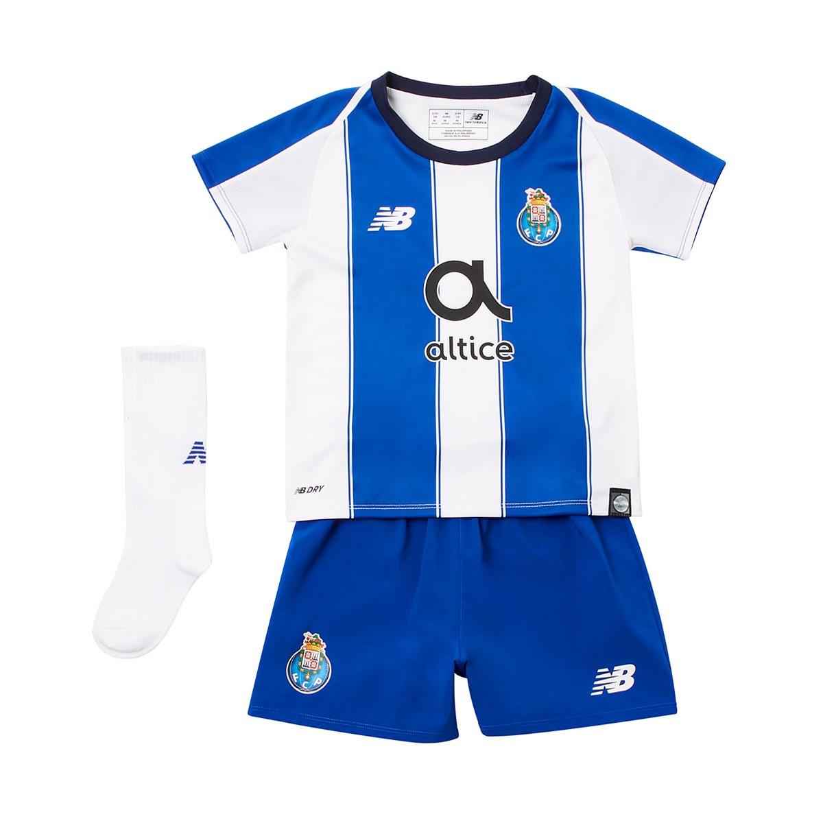 Kit New Balance Kids FC Porto 2018-2019 Home Blue-White - Football ... cda5cc5d28af0