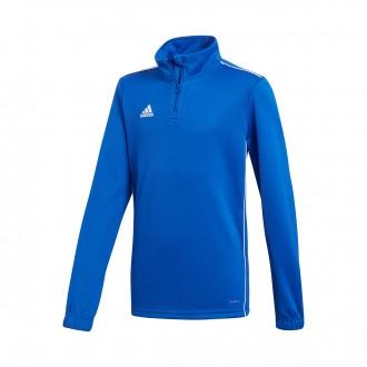 Sweatshirt  adidas Core 18 Training Niño Bold blue-White