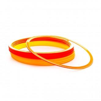 Pack  SP Fútbol 20 hoops (10 yellow and 10 orange) Yellow-Orange