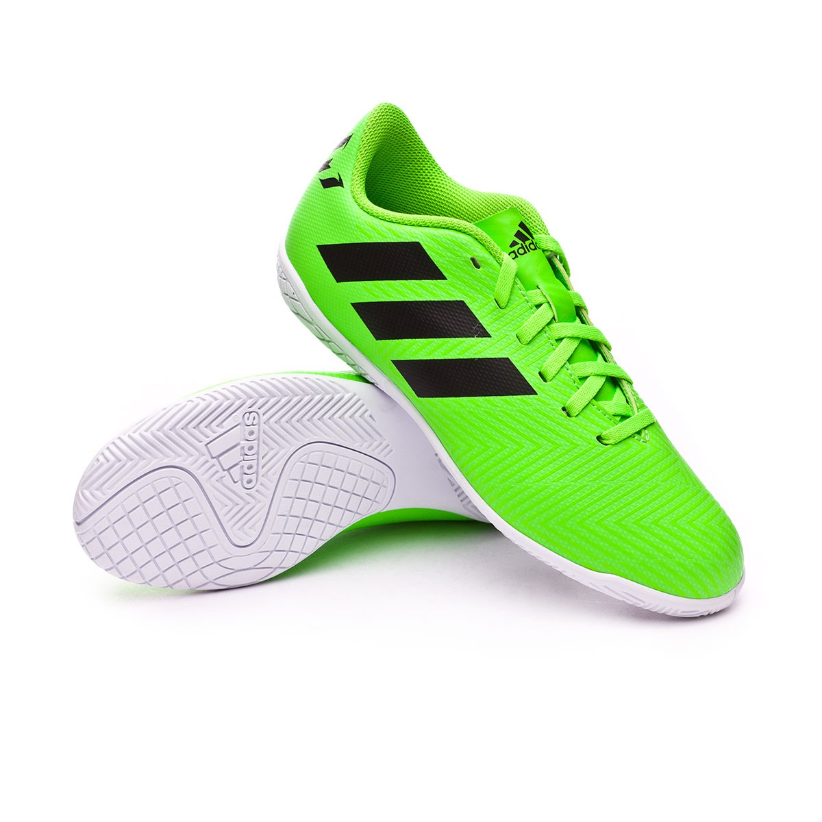 12a41b880 Futsal Boot adidas Kids Nemeziz Messi Tango 18.4 IN Solar green ...