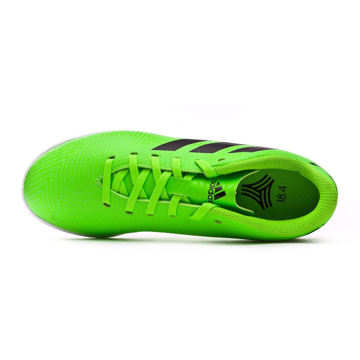 326a3a750a44b Zapatilla adidas Nemeziz Messi Tango 18.4 IN Niño Solar green-Black -  Tienda de fútbol Fútbol Emotion