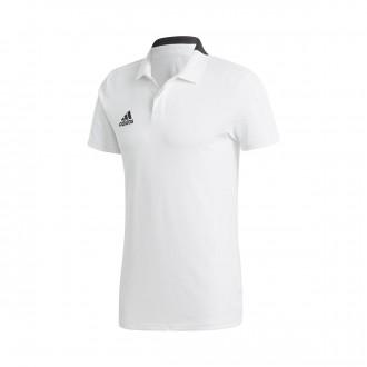 Polo shirt  adidas Condivo 18 m/c White-Black